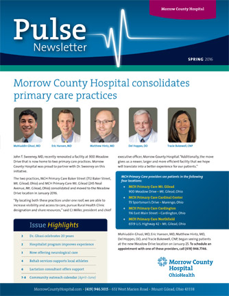 Morrow County Hospital Pulse Newsletter