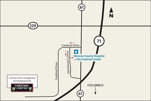Map of The Cardinal Center