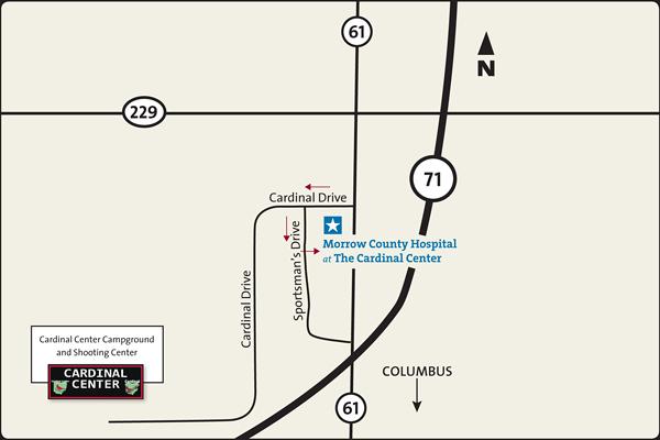 Map of The Cardinal Center