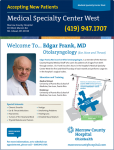 Dr. Edgar Frank is Accepting New Ear, Nose, & Throat Patients