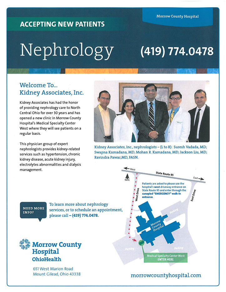Nephrology at Morrow County Hospital