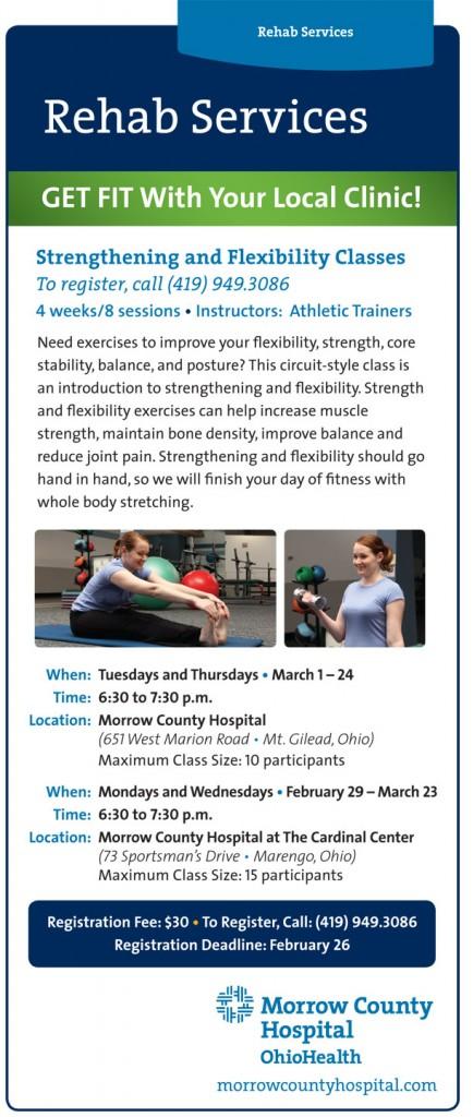 Rehab Services flyer 2016