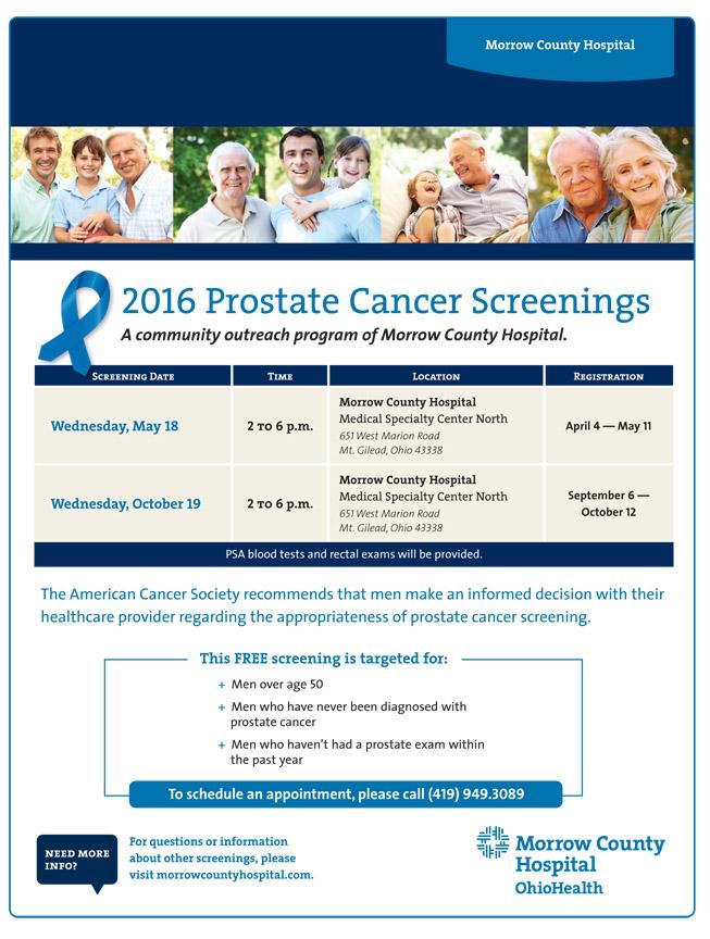 2016 Prostate Screenings
