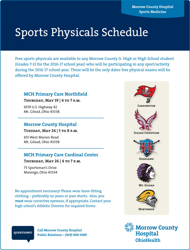 2016 Sports Physicals