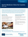 Sports Medicine Clinic for Coaches