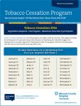 Tobacco Cessation classes beginning October 12