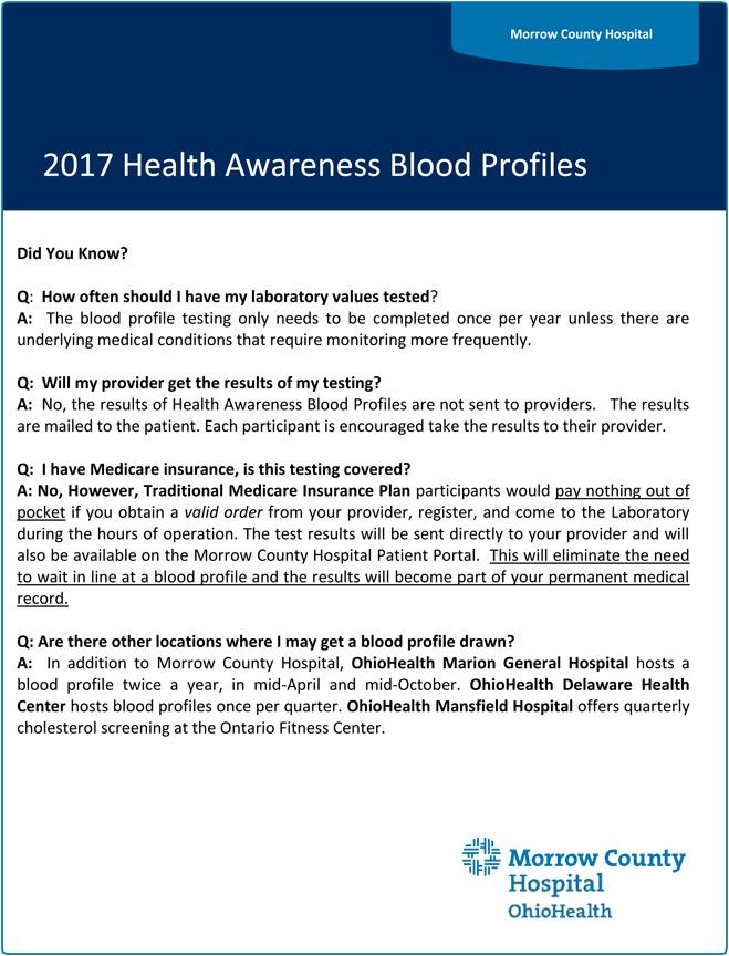 2017 Blood Profile Q  A